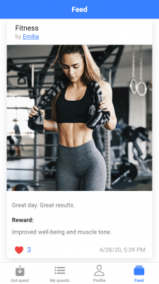 Questly app (Доработка и исправление багов)