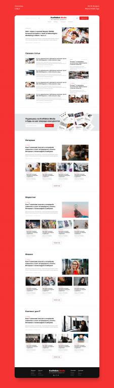 Дизайн главной медиа-сайта