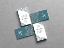 дизайн визитки для флориста