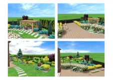 Визуализация ландшафтного проекта г. Нежин