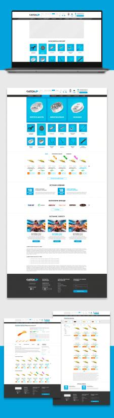 Дизайн інтернет-магазину риболовних товарів