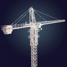 Модель башенного крана Turbosquid CheckMate PRO