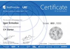 Сертификат C# Test Provider