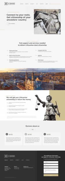 Home page for lawyer company_ contest