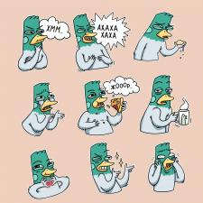 Персонаж и стикеры