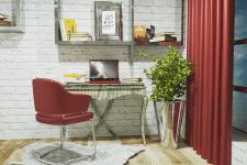 Интерьер квартиры-студии (Рабочая зона)