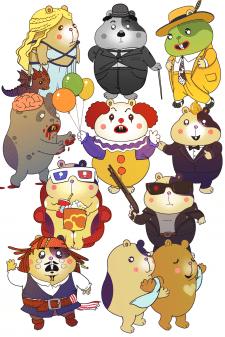 Hamster for Fluffy stickershop