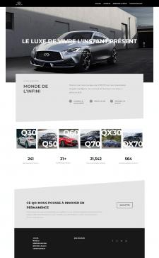 Сайт заказа тест драйва Infinity (Франция)