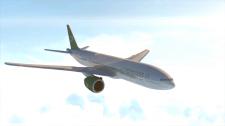 Boeing-777 Облет камеры вокруг летящего самолета.