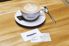 Разработка логотипа и визитки для кофейни