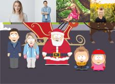 South Park style portraits
