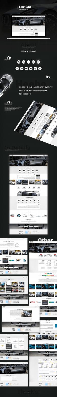 Web design for Car rental service