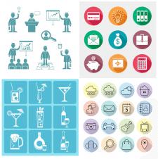Иконки: Бизнес, Напитки, Приложения