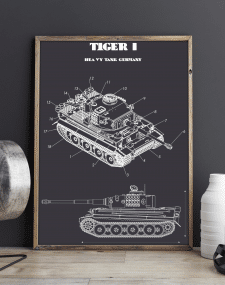 Дизайн прінта німецького танка Tiger I