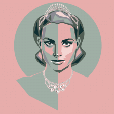 Портрет Грейс Келлі,принцеси Монако