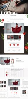 Интернет магазин дизайнерской одежды 'Olya Mak'
