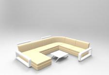 Модель дивана для виза интерьера