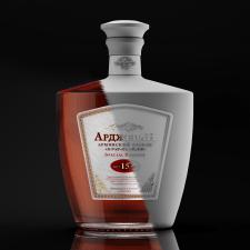Предметная  визуализация, бутылка Арджеван коняк