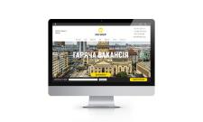 Адаптивний сайт компанії з працевлаштування