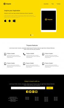 Tinyone template для GeekHub