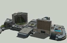 3D модель зданий.