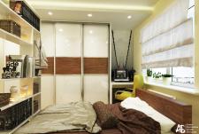 Маленькая спальня с рабочим кабинетом