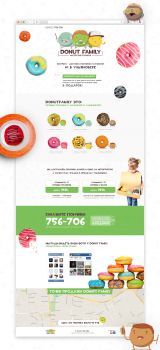 Landing Page | Donut Family