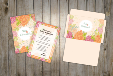 Свадебное приглашение и конверт