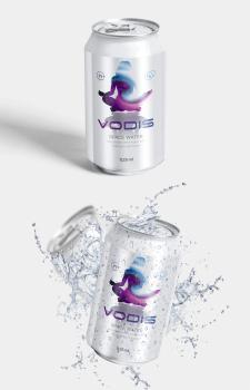 Дизайн этикетки для напитка VODIS