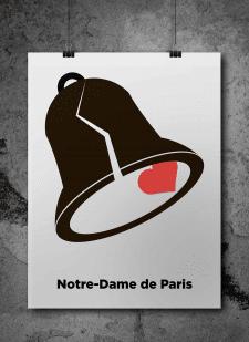Постер к произведению В. Гюго -Notre-Dame de Paris