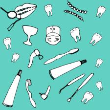 векторная иллюстрация на тему стоматологии 2