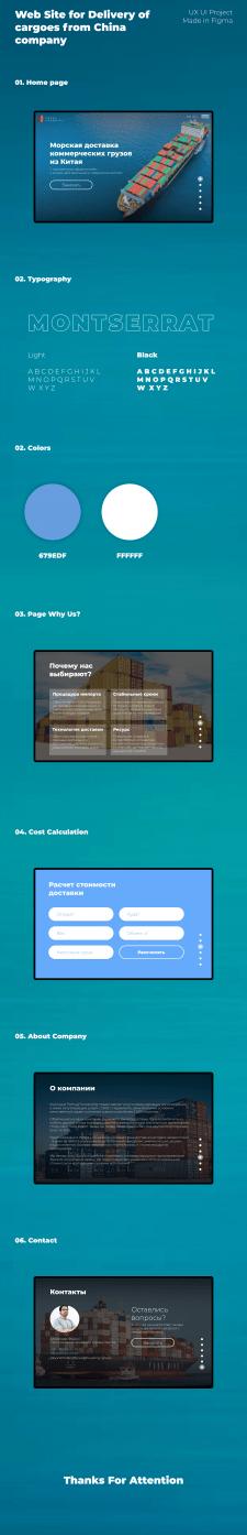 """Дизайн сайта """"Доставка грузов из Китая"""""""