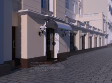 Визуализация фасада здания во Львове