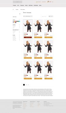 Дизайн страницы каталога интернет-магазина