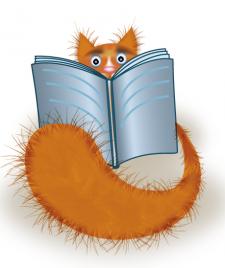 кот с книгой