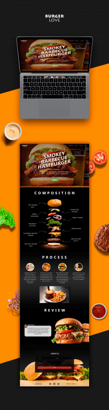 Landing Page доставки бургеров | Burger Love