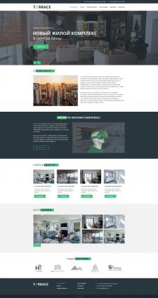 Дизайн сайта жилого комплекса