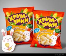 """Дизайн упаковки кукурузной палочки """"Хрумзики"""""""