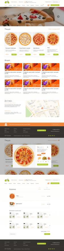 Дизайн сайта пиццы