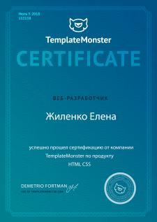 Сертификат HTML CSS