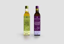 Этикетка. Продукт: оливковое масло и уксус.