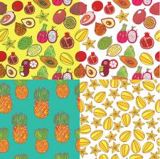 тропические фрукты - паттерны