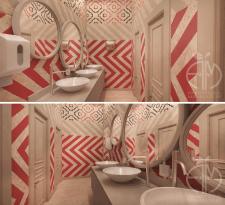 Дизайн санузла для семейного ресторана в Киеве