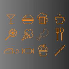 Иконки для ресторана