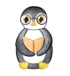 Акварельныц пингвин