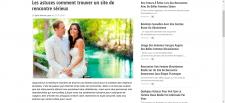 Статья на французском языке с элементами SEO