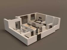 Интерьер квартир - вид сверху