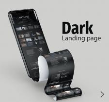 Дизайн сайта в темных цветах для онлайн-кинотеатра