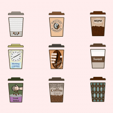 Розробка дизайнів для кавових стаканчиків