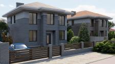 Визуализация загородного дома.